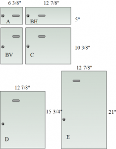 Door size dimensions.