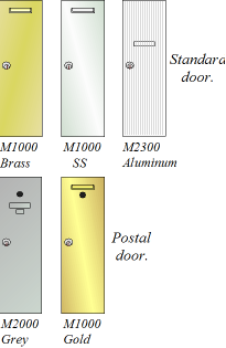 Available door colours.