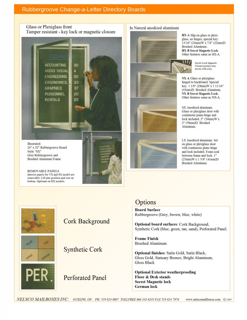 Locked display boards brochure